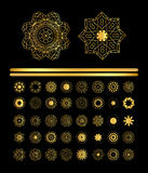 Mandala golden art Stock Photography