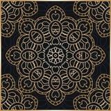 Mandala. Golden background. Stylized flowers. Golden Flower. Gol Stock Image
