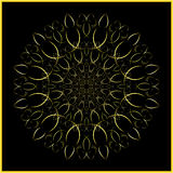 Mandala - golden ornament - arabesque Royalty Free Stock Photos