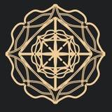 Mandala gotica del pizzo per i tatuaggi illustrazione di stock