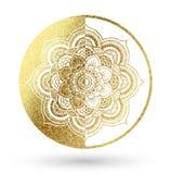 Mandala in goud Royalty-vrije Stock Foto