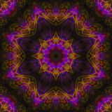 Mandala grafische symmetrie, behang helder mozaïek, oosters decor vector illustratie