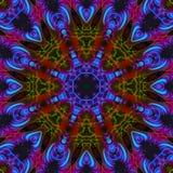 Mandala grafische symmetrie, helder textuurmozaïek, oosters decor vector illustratie