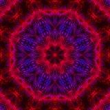 Mandala grafische symmetrie om creativiteitornament, oosters behang helder mozaïek, stock illustratie
