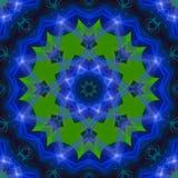 Mandala grafische symmetrie, unieke mozaïek van de patroon het heldere textuur, oosters decor stock illustratie