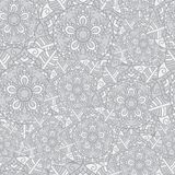 Mandala gray Pattern stock illustration