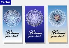 Mandala greeting cards Stock Image