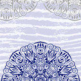 Mandala, grunge background. Indian medallion. Pattern bohemian, decorative round ornament element. Abstract vintage art flower. Tribal, yoga vector design stock illustration