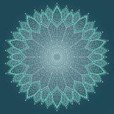 Mandala. Härlig hand dragen blomma. Royaltyfria Bilder