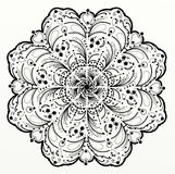 Mandala. Hand drawing illustration of indian floral elements Royalty Free Stock Image