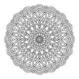 Mandala with hand drawn elements. Hand drawn decorated mandala. Image for adult and children coloring books, pages, tattoo. For decorate dishes, cups, porcelain Royalty Free Stock Images