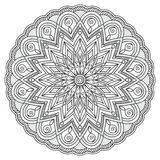 Mandala with hand drawn elements. Image for adult and children coloring books, pages, tattoo. For decorate dishes, cups, porcelain, ceramics. Vector Stock Image