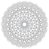 Mandala with hand drawn elements. Image for adult and children coloring books, pages, tattoo. For decorate dishes, cups, porcelain, ceramics. Vector Royalty Free Stock Image