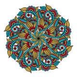 mandala Hand gezeichneter Hintergrund Vektor für Färbungsseite für Erwachsene stockfoto