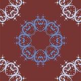 Mandala of heart shapes with dots seamless royalty free stock photography