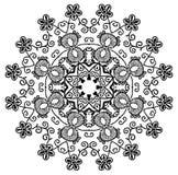 Mandala henna royalty ilustracja