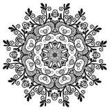 Mandala henna ilustracji