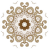 Mandala henna design fashion Stock Image