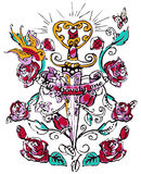 Mandala henna design fashion Stock Photo
