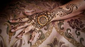 Mandala Henna Hand florale Photographie stock libre de droits
