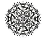 Mandala for Henna, Mehndi, tattoo, decoration. royalty free illustration