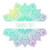 Mandala hermosa del vector Fotografía de archivo
