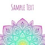 Mandala hermosa del vector Imagen de archivo