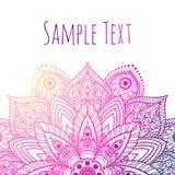 Mandala hermosa del vector Imagen de archivo libre de regalías