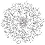 Mandala hermosa del vintage que colorea stock de ilustración