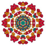 Mandala hermosa Modelo ornamental redondo Imagenes de archivo