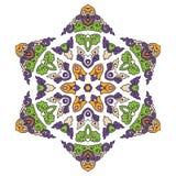 Mandala hermosa Modelo ornamental redondo Imágenes de archivo libres de regalías