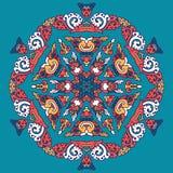 Mandala hermosa Modelo ornamental redondo Foto de archivo libre de regalías