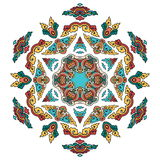 Mandala hermosa Modelo ornamental redondo Foto de archivo
