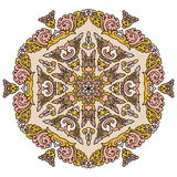 Mandala hermosa Modelo ornamental redondo Fotografía de archivo
