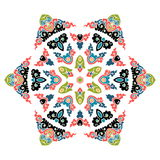 Mandala hermosa Modelo ornamental redondo Fotografía de archivo libre de regalías