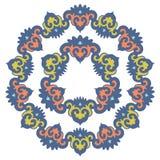Mandala hermosa Modelo ornamental redondo Imagen de archivo