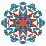 Mandala hermosa Modelo ornamental redondo Imagen de archivo libre de regalías