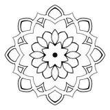 Mandala hermosa para el álbum Ornamento simétrico en el círculo Imagen de archivo libre de regalías