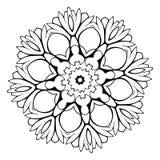 Mandala hermosa para el álbum Ornamento simétrico en el círculo Foto de archivo
