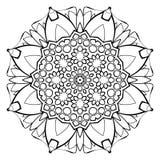 Mandala hermosa para el álbum Ornamento simétrico en el círculo Fotografía de archivo libre de regalías