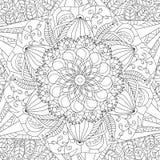 Mandala het kleuren vector voor volwassenen Royalty-vrije Stock Afbeeldingen