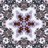 mandala Het ontwerpachtergrond van de bloemcirkel met kantornament Royalty-vrije Stock Afbeelding