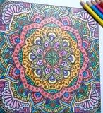 Mandala het schilderen art. Royalty-vrije Stock Afbeeldingen