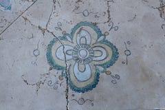 Mandala het schilderen op het marmer royalty-vrije stock fotografie