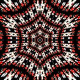 Mandala hexagonal complexe avec l'arabesque de filtrage léger illustration libre de droits