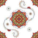 Mandala hindú - estampado de plores de Lotus Imagen de archivo