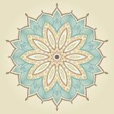 Mandala. Härlig hand dragen blomma. Arkivbilder