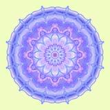 Mandala i blåa signaler, dekorativ beståndsdel, vektor royaltyfri illustrationer