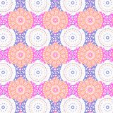 Mandala i cyma kolorowy bezszwowy wzór ilustracja wektor