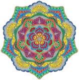 Mandala i färg Royaltyfri Fotografi
